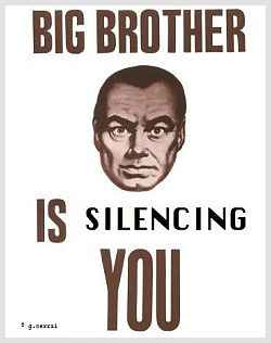 Big Brother is silencing you