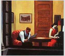 E.Hopper, Room in New York, 1932